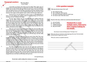 3rd grade ELA example